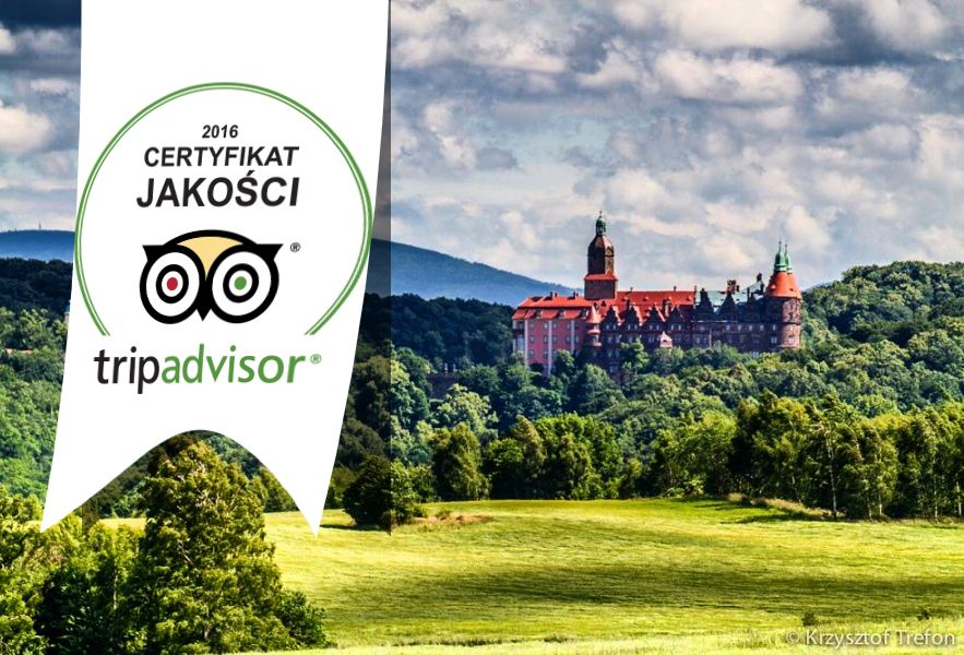Książ Castle earns 2016 Certificate of excellence!