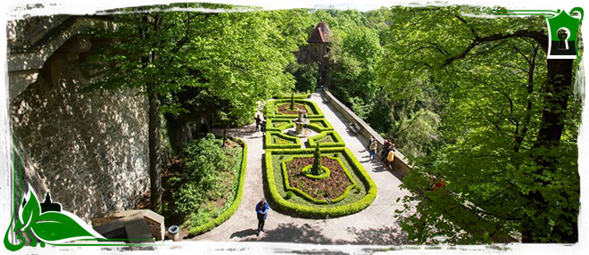 A fairy-tale garden on the rock: the terraces of Książ Castle