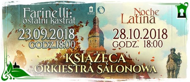 Książęca Orkiestra Salonowa - koncerty we wrześniu i październiku