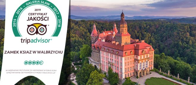 Książ Castle earns 2019 Certificate of excellence!