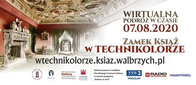 Zamek Książ w technikolorze