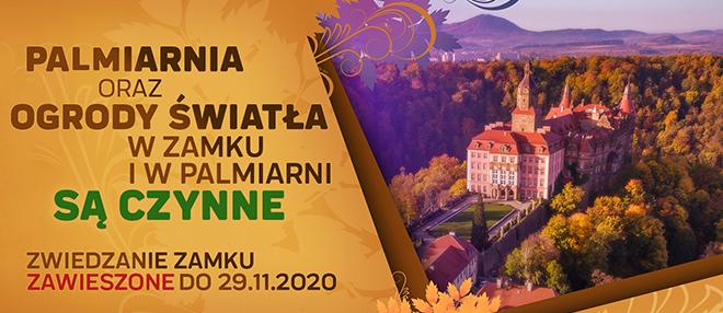 Informacje dotyczące funkcjonowania Zamku Książ i Palmiarni